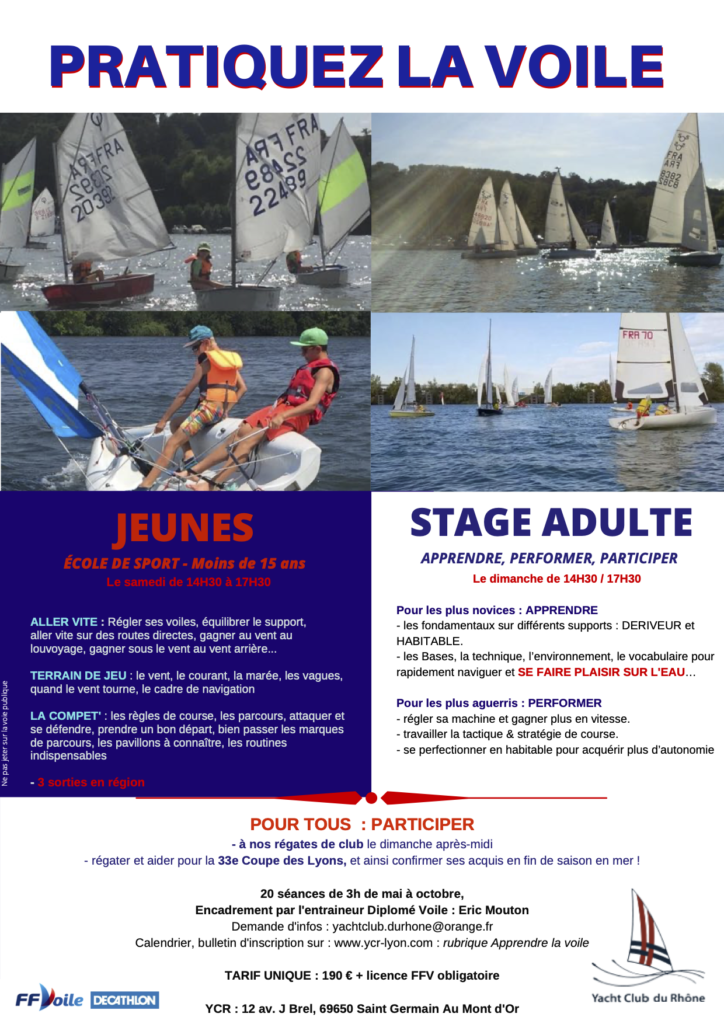école de sport, stages adultes